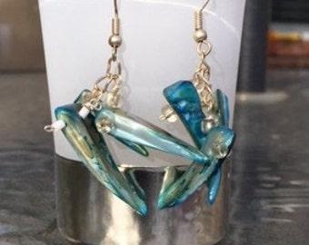 Blue Shell Earrings!