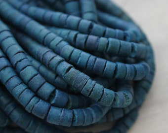 5% sale Blue Beads Blue Coco Heishi 4-5mm Beads 4-5mm One Strand Jewelry Supply Natural Beads