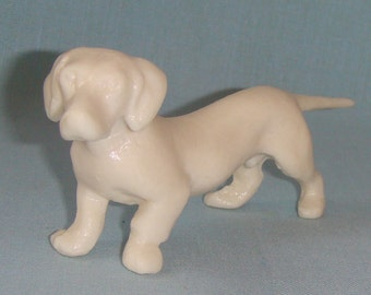 Male Dachshund Dog Figurine,Russian Vintage,Hard Plastic,Made in the USSR 1960-s