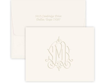 Personalized Stationery, Personalized Stationary, Monogram Stationery, Embossed Stationery, Stationery Set, Custom Stationary, notecards