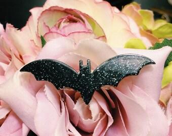 Sparkly Bat Brooch
