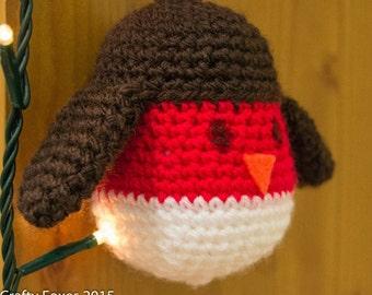 Robin tree ornament - crochet robin christmas tree ornament - robin - christmas tree decoration - tree decoration, robin