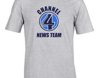 CHANNEL 4 NEWS TEAM- Classic comedy Movie inspired Men's T-Shirt - MTS1032