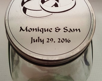 Candy Jar Wedding Favors / Old Fashioned Candy Jars / Personalized Candy Jars