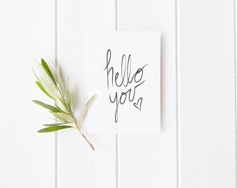 Just Because, Hello You, Greeting Card