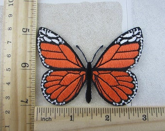 Embroidered Butterfly Patch Iron/Sew On