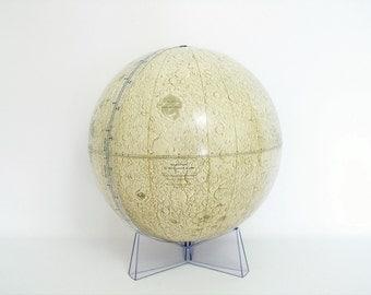 SALE - Vintage Lunar Globe c 1969 Rand McNally