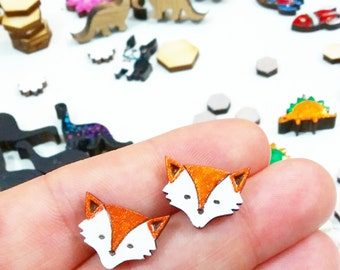 tiny foxy faces for your ears // sweet stud earrings