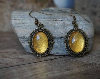 """Earrings """"Golden sunshine"""""""