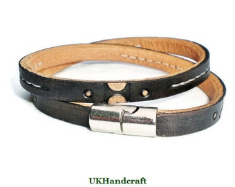 Mens Leather Bracelet, Mens Leather Bracelet Black, Mens Leather Bracelet Men, Mens Leather Bracelet Magnetic, Mens Leather Bracelet Wrap