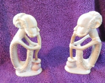 Hand Carved Kenyan Soapstone Tribal Figurines