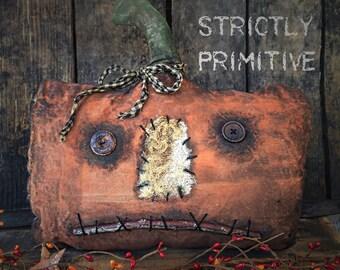 Primitive Pumpkin - primitive fall decor- primitive pumpkins - fall decor - primitive decor