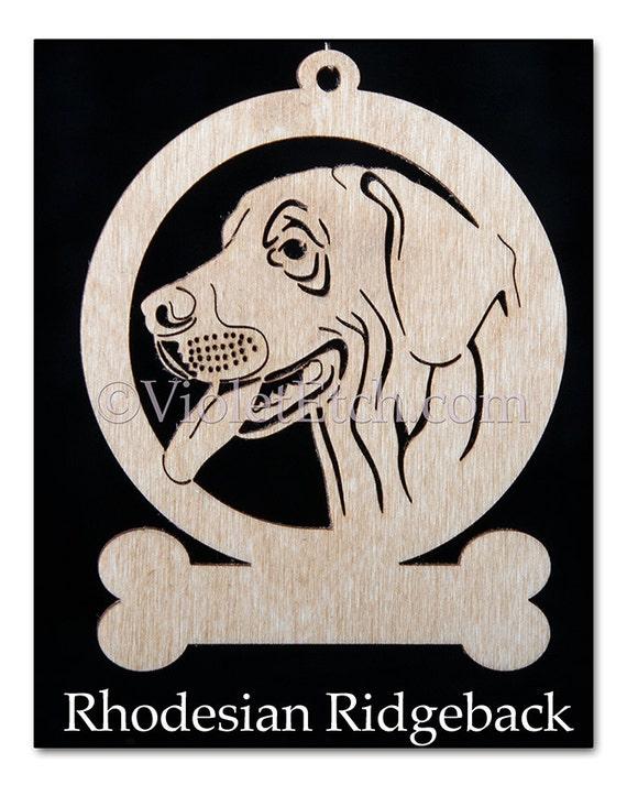 Rhodesian Ridgeback Ornament-Rhodesian Ridgeback Gift-Free Personalization