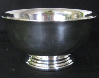 Gorham Paul Revere Silver Bowls, YC778, Silverplate Pedestal Footed Bowl Two 2 Bowls Wedding Anniversary Birthday