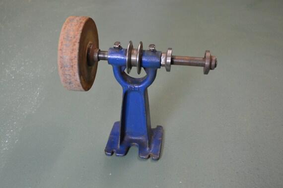 Dual Arbor Grinder Vintage Belt Drive Buffer Machine