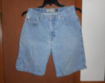 Mens Vintage Bugle Boy 750 Shorts Light Wash Denim Jean 5 Pocket 32W
