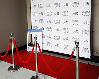PRINT ONLY-Custom 8'x8' Step and Repeat Backdrop / Media Wall