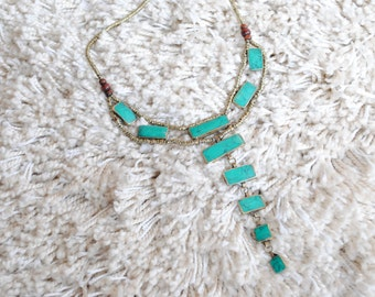 Handmade Tribal Antique Necklace – Turquoise