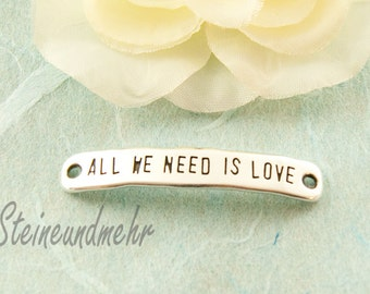 """Intermediate piece """"All we need..."""" Silver plated art. 2473"""