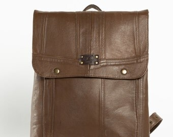 Genuine Leather Rucksack, Leather Backpack, Handmade By REmade