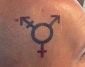 Transgender Symbol Temporary Tattoo