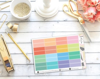 Summer Coloured Label Stickers || 32 Planner Stickers