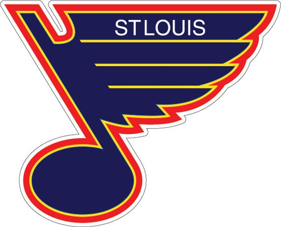 2 large st louis blues decals bean bag toss stickers