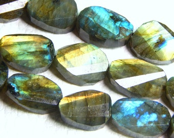 Labradorite Gemstone Faceted Oval Beads Size 14.8x10.3 mm Approx Code - 0321