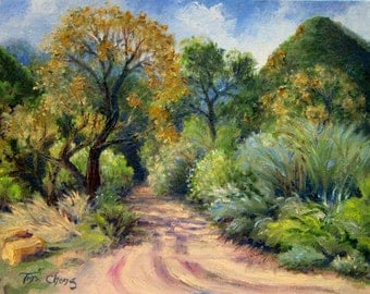 Plein Air Original Art Oil Painting Paramount Ranch Trail Tina Chong