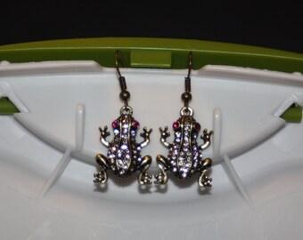 Bling Frog Earrings
