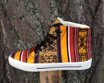 Peruvian Textile High Top Sneakers