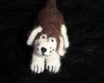 small felt dog