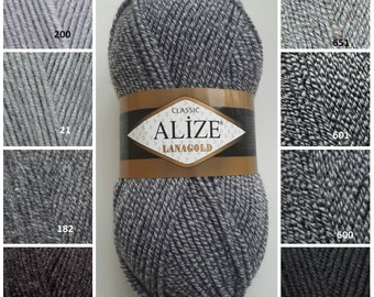 ALİZE LANAGOLD, classic yarn, wool yarn, knitting yarn, winter yarn, sweater yarn, hand knitting yarn, crochet yarn, hat yarn, scarf yarn