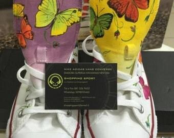 CONVERSE shoes (Original) custom, hand painted Butterfly/butterflies