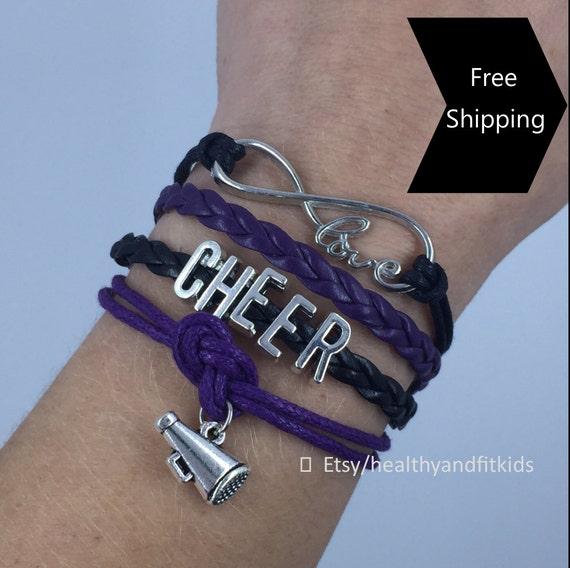 Cheer Charm Bracelets: Cheer Bracelet Charm Love Infinity Megaphone By