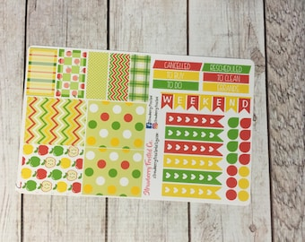 Apple Picking Themed Planner Stickers - Made to fit Vertical Layout