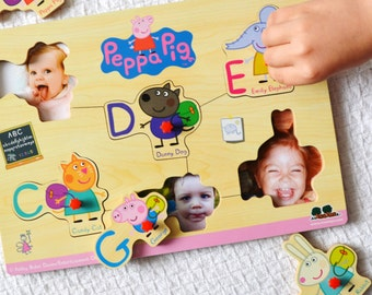 Peek-a-boo puzzle – Peppa Pig and friends