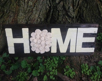 Rustic Wood Plaque- Home Sign