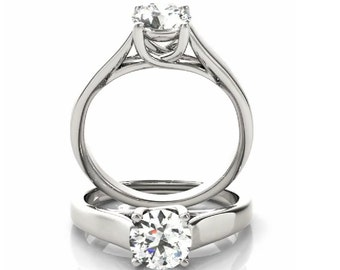 Diamond Solitaire Ring, Solitaire Diamond Ring, Solitaire Diamond Engagement Ring, Simple Diamond Ring, Solitaire Diamond Ring in Gold