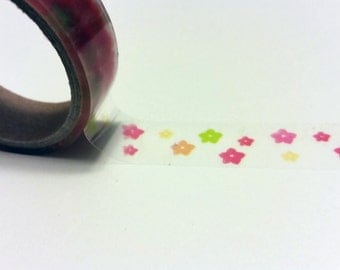 Flower printed Clear Scotch Tape