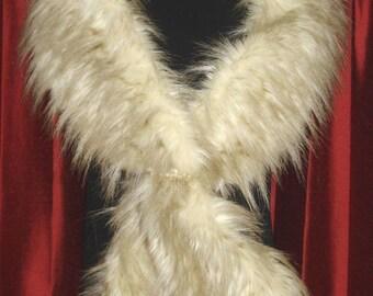 Blond Fox Faux Fur Scarf  Brand New !!