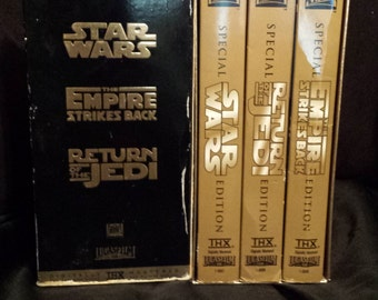 Star Wars Triology Gold Special Edition VHS Set