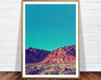 Printable wall art - desert printable artwork - canyon print - photography wall art - digital desert poster - modern art - DIGITAL DOWNLOAD