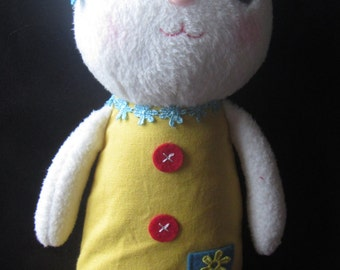 Stuffed bunny rabbit, boys and girls, child friendly, weared with style