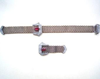 Sale!!!Vintage Kreisler set ,necklace and clip, 1940's