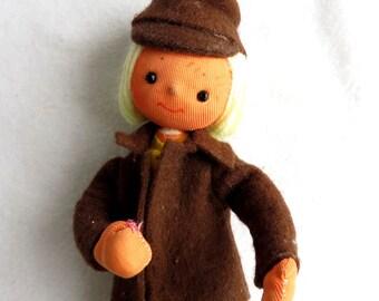Vintage doll, Stewardess, Figurine, Rare doll, 1970s