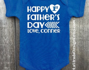 1st Father's Day /Personalize with Child's Name!/Father's Day Shirt/Father's Day /First Father's Day/Best Dad Ever!