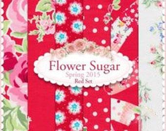 Flower Sugar Spring 2015 by Lecien - Red FQ Bundle