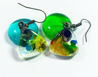 Earth and Sea Earrings