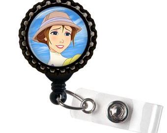 Jane- Glass Dome Retractable ID Badge Holder!! - Lanyards & Badge Holders